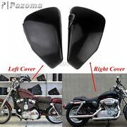 Pair Left Right Side Battery Covers For Harley Sportster Xl883 1200 48 72 04-13