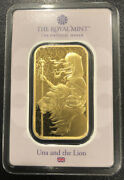 2021 Una And The Lion 1 Oz Gold Bar - Great Engravers In Hand