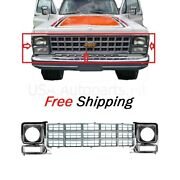 For 1979-1980 Chevy Gmc C10 C20 Pickup Front Grille And Headlamp Door Set Of 3pcs