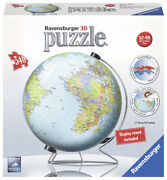 Ravensburger 3d Puzzle The Earth - World Globe And Display Stand - 540 Pcs 12436