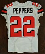 Jabrill Peppers 2017 Game Worn Rookie Photo Matched Nfl Browns Giants Jersey Psa