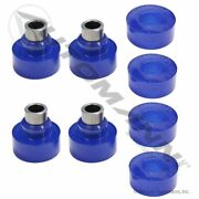 Outlaw Customs Peterbilt Exhaust Blue Poly Bushing 4piece Set 14-14696 M20311kub