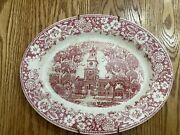 Homer Laughlin Early American Homes Platter Independence Hall Made In Usa