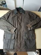 Burke And Wills Oilskin Jacket Large Brown Australian Country Outfitters Xl