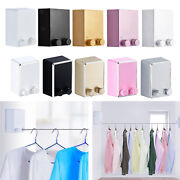 Laundry Retractable Clothesline Clothes Drying Rack Outdoor Wall Mounted