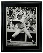 Mickey Mantle Yankees Signed/autographed 20x30 Inch Photo Framed Jsa 157399