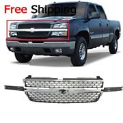 For 2003-2007 Grille Frame Chrome Shell Honeycomb Insert Silverado 1500 2500 Hd
