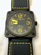 Bell And Ross Automatic Br01-92 Limited Edition Black/yellow Menand039s Watch