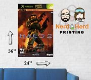 Halo 2 Retro Xbox Game Wall Poster Multiple Sizes Available 11x17 - 24x36