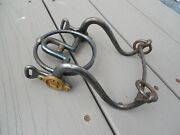 Antique Us Civil War Ring Bit - Blue Finish And Maker Marked For A Cavalry Bridle
