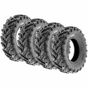 Set Of 4 25x10-12 25x10x12 Quad Atv Utv All Trail At 6 Ply Tires A024-1 By Sunf