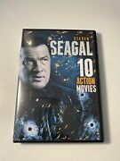 New Steven Seagal 10 Action Movies 2 Dvd Set Ten Film Collection Over 15 Hours