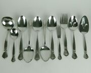 Oneida Deluxe Alexis Stainless Flatware 11 Piece Serving Hostess Set Ribbon Bow
