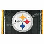Pittsburgh Steelers Flag 3x5 Banner American Football Nfl New Fast Free Shipping