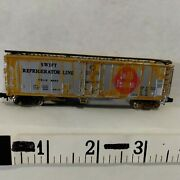 N Scale Freight Car 50' Box Srlx Swift Silver Weathered Bachmann Hk Exc