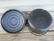 Rare Slant Griswold No 9 Cast Iron Tite Top Dutch Oven 834 And Lid A 2552 Re-stamp