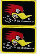 2 Embroidered Sew/iron Patch Dodge Plymouth Chevrolet Ford Porsche Ferrari