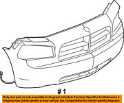 Dodge Chrysler Oem 06-10 Charger-bumper Cover 4854674aa