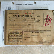 Vintage 1943 Wwii World War 2 War Ration Book No. 3 With 141 Stamps
