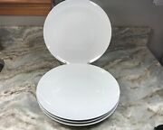 Williams Sonoma Open Kitchen Dinner Plates. Solid White. Set Of 4. New.