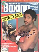 Gerry Cooney/greg Page Dual-signed 1985 World Boxing Magazine Cover Jsa 151581