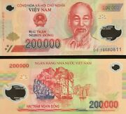 200000 Vietnamese Dong Uncirculated Bank Note For Collectors Mint Usa Fast Ship