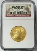 2007 W Gold Us 10 Jeffersons Liberty Spouse 1/2 Oz Coin Ngc Mint State 70