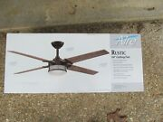 Aire A Minka Group Rustic 54 Integrated Led Indoor Oil Rub Bronze Ceiling Fan