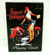 2009 Harley Davidson Playing Cards Sexy Girl Hand Washing Motorcycle Complete