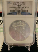2010 American Silver Eagle Ms69 Ngc Early Releases 25 Year Label Mint Sealed Box