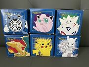 Pokemon 1999 Gold Plated Cards Burger King Set Of 6 Factory Sealed Blue