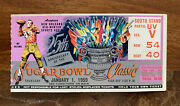 1959 Sugar Bowl Ticket - Purple Variation - Lsu Ticket - Lsu Wins National Title