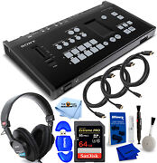 Sony Mcx-500 8-input 4-video Channel Global Production Switcher + Sony Mdr-7506
