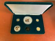 1996 National Park Foundation Wildlife Cook Island Gold And Silver Coin Set