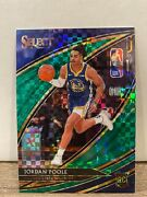 2019-20 Panini Select Jordan Poole Rc 5/5 Green Courtside Parallel Rookie 229