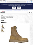 Army Issue Boots Coyote Brown Hot Weather 798 -size Usa 7.5w Preissued