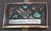 Frank Patania Sr. Conquistadores Del Cielo Sterling Silver Turquoise Belt Buckle