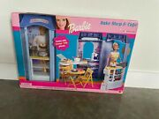 Vintage 2000 Barbie Bake Shop And Cafe With Over 75 Pieces 67316-93