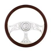United Pacific 88312 - 18 Lady Steering Wheel With Chrome Horn Bezel And Horn B