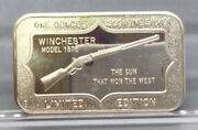 Winchester Model 1873 Limited Edition 1 Ounce .999 Fine Silver Bar