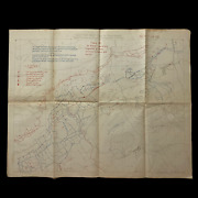 Wwi St. Mihiel Operations 29th Engineers U.s. Army Heavily Detailed Sketch Map