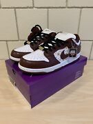 Nike Sb Dunk Low X Supreme Barkroot Brown Size 12 Dh3228-103 Ships Fast