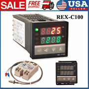 Lcd Pid Rex-c100 Temperature Controller Ssr 40a K Thermocouple Heat Sink W8g5
