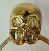 Rare Wwi Imperial Russian White Army Aceand039s 14k Gold56anddiamonds Skull Ring