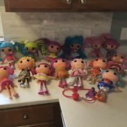 Lot Of 14 Full Size Lalaloopsy Dolls W/ Couch And Pets