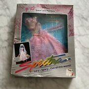 1986 Mattel Spectra Space Lace Fashions Purple Evening Gown Nrfb Doll Fashion