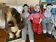 Vintage Laurel And Hardy Dolls Howdy Doutey And Hush Puppy Display Dog