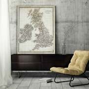 Antique Map Of Ireland I - Premium Gallery Wrapped Canvas Large