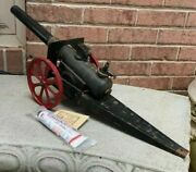 Big-bang 15fc Cast Iron Toy Cannon With Special Spark Plug And 1 Tube Of Bangsite