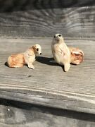 Vintage Alaskan Clay Seal And Seal Pup Sitka Swirl Pottery Figurine Rare Find